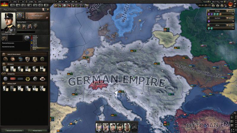HoI4では、国の戦略を指揮して領土を拡大させるプレイができる(出典:Reddit)